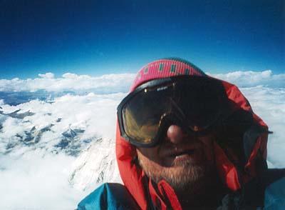 Autoportrét z vrcholu Makalu.